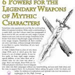 EZG reviews Bullet Points: 6 Powers for the Legendary Weapons of Mythic Characters