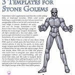 EZG reviews Bullet Points: 3 Templates for Stone Golems