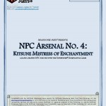 EZG reviews NPC Arsenal: Kitsune Mistress of Manipulation