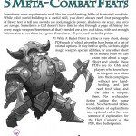 EZG reviews Bullet Points: 5 Meta-combat Feats
