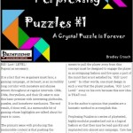 EZG reviews Perplexing Puzzles #1: A Crystal Puzzle is Forever