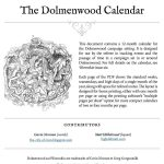 The Dolmenwood Calendar (system neutral)
