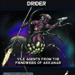 Starfarer Adversaries Deluxe: Drider (SFRPG)